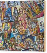 Hindu Deity Posters Wood Print by Tim Gainey