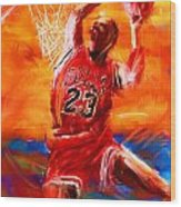 His Airness Wood Print by Lourry Legarde