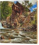 Historic Colorado Landscape Wood Print by Adam Jewell