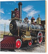 Historic Steam Locomotive - Promontory Point Wood Print by Gary Whitton