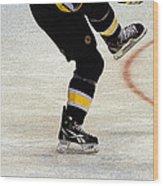 Hockey Dance Wood Print by Karol Livote