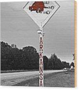 Hog Sign Wood Print by Scott Pellegrin