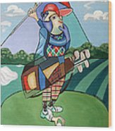 Hole In One Wood Print by Anthony Falbo
