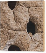 Holes In The Wall Wood Print by Bob Phillips
