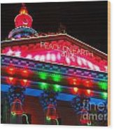 Holiday Lights 2012 Denver City And County Building L1 Wood Print by Feile Case