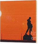 Holocaust Memorial - Sunset Wood Print by Nishanth Gopinathan