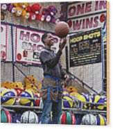 Hoop Shots Wood Print by Rory Sagner