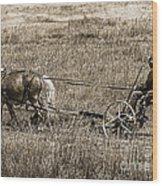 Horse Power Wood Print by Janice Rae Pariza