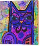 House Of Cats Series - Paws Wood Print by Moon Stumpp