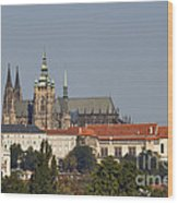 Hradcany - Cathedral Of St Vitus On The Prague Castle Wood Print by Michal Boubin