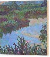 Huckleberry Line Trail Rain Pond Wood Print by Kendall Kessler