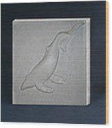 Humpback Whale Wood Print by Leslie Dycke