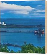 Hunterston Deep Water Terminal Ayrshire Wood Print by Tylie Duff