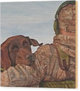 Hunting Boyfriend Wood Print by Tammy  Taylor