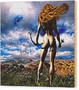Hunting Edens Edge Wood Print by Bob Orsillo