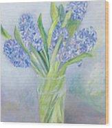 Hyacinths Wood Print by Sophia Elliot
