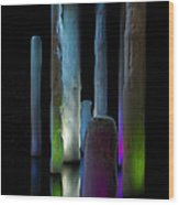 Ice Lighted Wood Print by Ivete Basso Photography