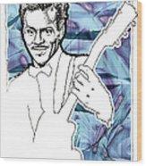 Icons- Chuck Berry Wood Print by Jerrett Dornbusch