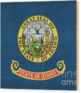 Idaho State Flag Wood Print by Pixel Chimp