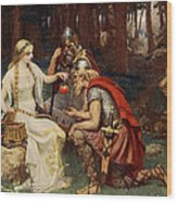 Idun And The Apples, Illustration Wood Print by James Doyle Penrose