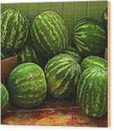 If I Had A Watermelon Wood Print by Patricia Greer
