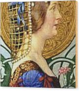 If One Could Have That Little Head Of Hers Wood Print by Eleanor Fortescue Brickdale