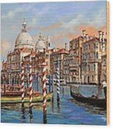 Il Canal Grande Wood Print by Guido Borelli