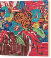 Ilana's Flower Arangement Wood Print by Diane Fine