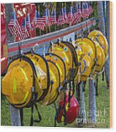 In Memory Of 19 Brave Firefighters  Wood Print by Rene Triay Photography