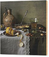 In Olive Tones  Wood Print by Helen Tatulyan