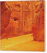 In Orange Chasms Wood Print by Jeff Swan