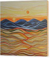 In The Beginning Wood Print by Kathy Peltomaa Lewis