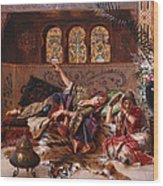 In The Harem Wood Print by Rudolphe Ernst