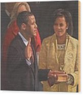 Inauguration Of Barack Obama Wood Print by Noe Peralez