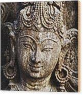 Indian Goddess Wood Print by Tim Gainey