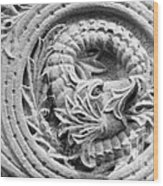 Indiana University Limestone Detail Wood Print by University Icons