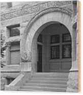 Indiana University Maxwell Hall Entrance Wood Print by University Icons