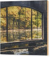 Inside The Old Spring House Wood Print by Scott Norris
