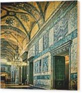 Interior Narthex Wood Print by Joan Carroll