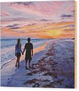 Into The Sunset Wood Print by Mary Giacomini