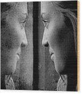 Introspection Wood Print by Lisa Knechtel