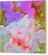 Iris 60 Wood Print by Pamela Cooper
