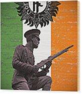 Irish 1916 Volunteer Wood Print by David Doyle