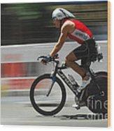 Ironman Flying Wood Print by Bob Christopher