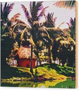 Island Paradise Wood Print by CHAZ Daugherty