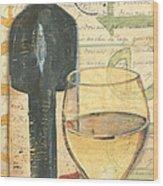 Italian Wine And Grapes 1 Wood Print by Debbie DeWitt