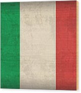 Italy Flag Vintage Distressed Finish Wood Print by Design Turnpike