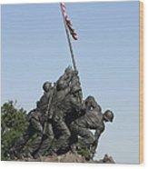 Iwo Jima Memorial - 12121 Wood Print by DC Photographer
