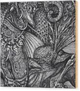 Jabberwockie Wood Print by Otto Rapp