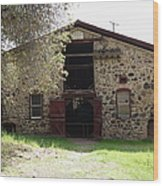Jack London Sherry Barn 5d22070 Wood Print by Wingsdomain Art and Photography